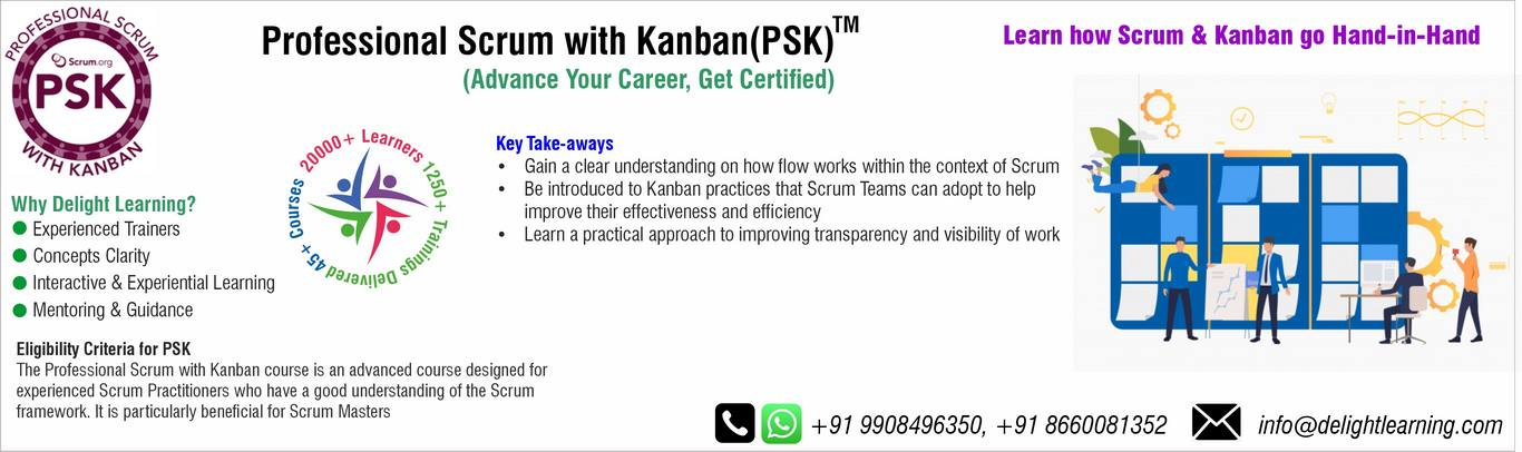 PSK (Professional Scrum with Kanban) Certification